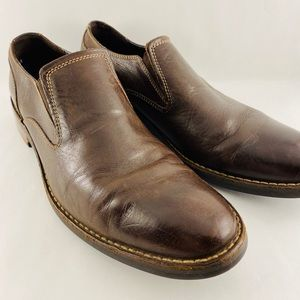 Cole Haan Brown Leather Loafers Slip On Shoes 11M